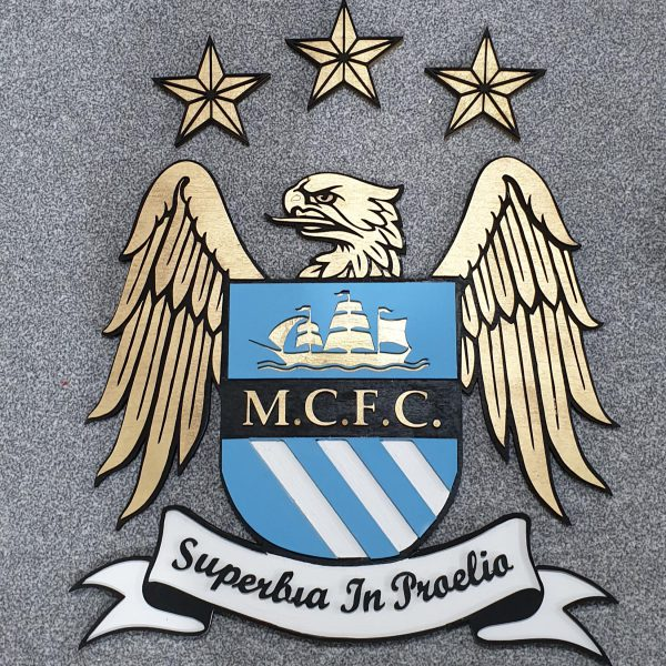 Manchester City Wooden Sign