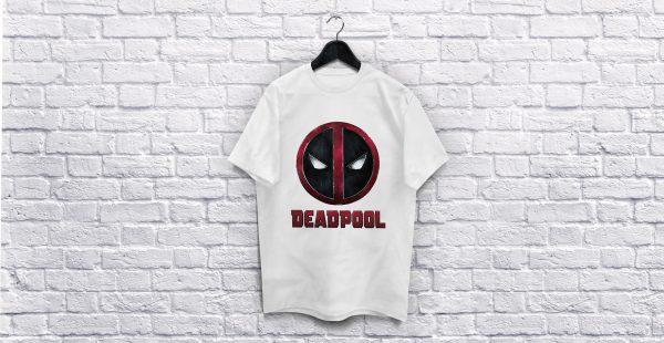 Deadpool Logo white T-Shirt