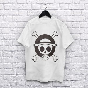 One Piece White T-Shirt