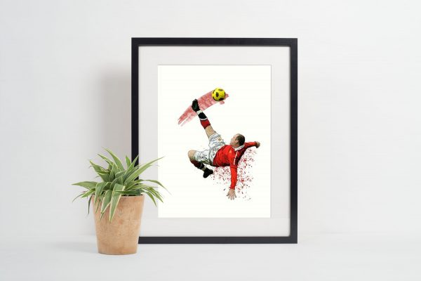 Wayne Rooney Over Head Kick Picture Frame
