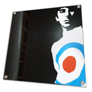 Keith Moon acrylic sign