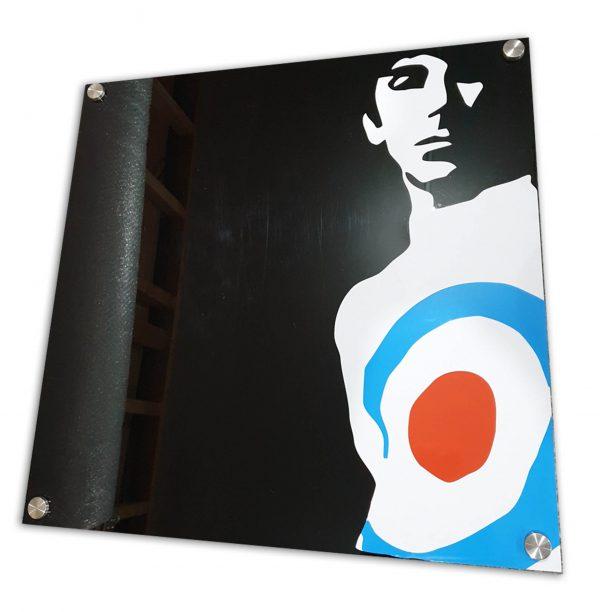 Keith Moon acrylic sign
