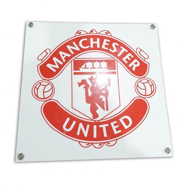 Manchester United acrylic sign
