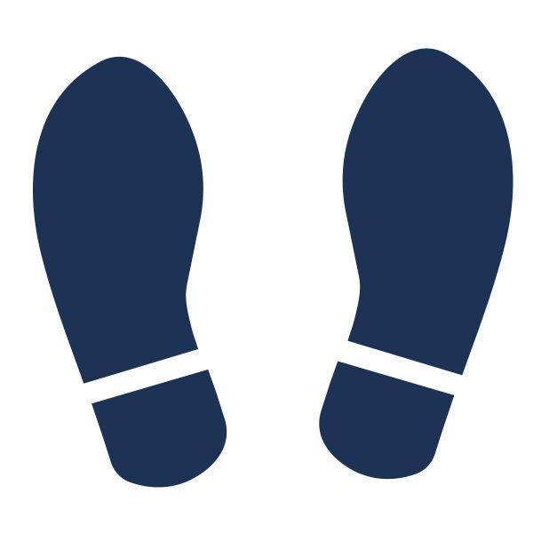 Dark blur feet
