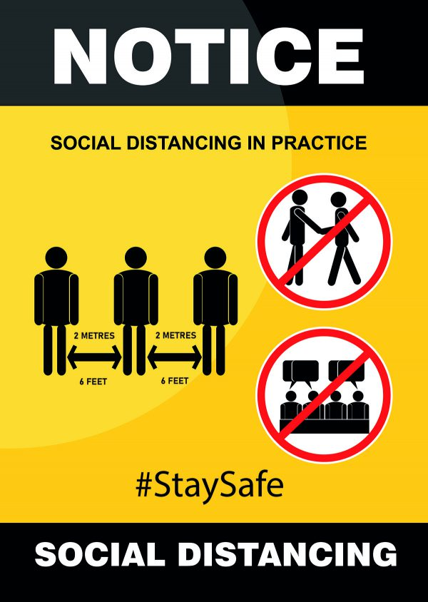 Social Distancing A3 Poster