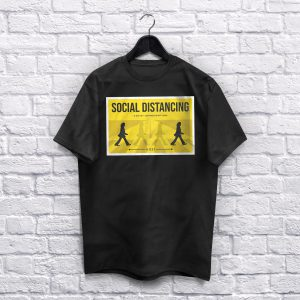 Social Distancing Black T-shirt