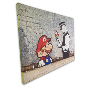 banksi mario -canvas-20x30