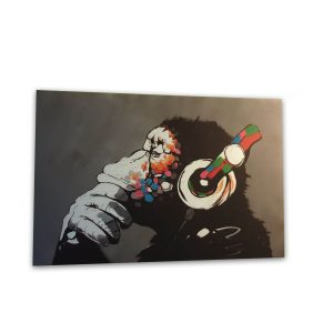 DJ Moneky Bansky canvas- 20x30