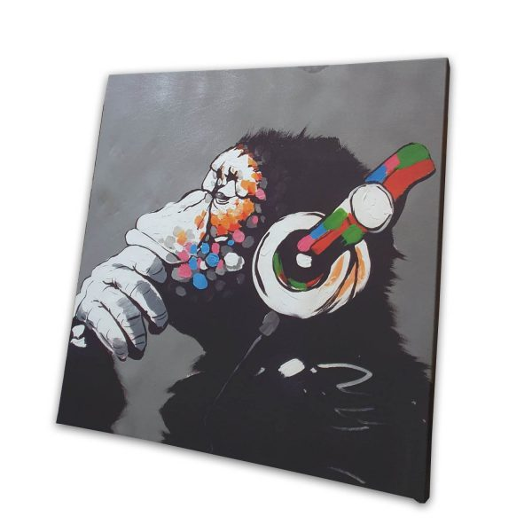 DJ Monkey canvas- 24x24