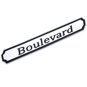 Boulevard Wooden Street Sign