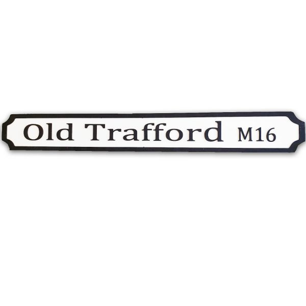 Old Trafford M16 Wooden Street Sign