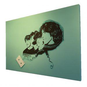 Beatles Tape Art 36x24 canvas