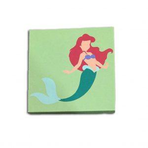 Little Mermaid 8x8 Canvas Print
